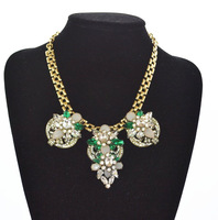 Gem crystal accessories necklace female short design chain fashion alloy necklace