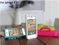 New HOT Personality Fashion Cute 3D Mug Cup Design Silicone Gel Soft Stand Case Cover For iPhone 4s 5 5G 5S iphone4