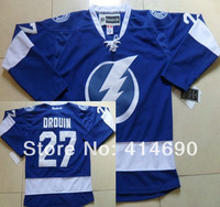 2014 New Cheap Tampa Bay Lightning Ice Hockey Jerseys #27 Jonathan Drouin New Blue Jersey