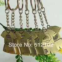 Football Fans Crafts Supplies Birthday Gift Souvenir World Cup National Team Jersey Brass Key Chain