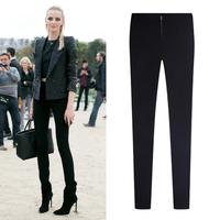 2014 New Fashion Slim Fit Skinny Pencil Pant Plus Size Elastic Women Leggings Zipper Trousers Skinny Capris