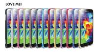 5pieces/lot For Samsung Galaxy S 5 bumper Original LOVE MEI Hippocampal buckle ultra-thin metal bumper