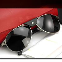 Free Shipping 2014 Hot Fashion Sunglasses women brand designer Polarized Men UV Sun glasses With original box 2558Y