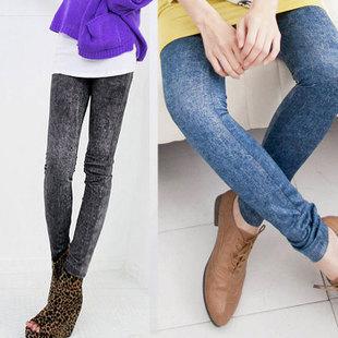 new Korean skinny elastic snow denim Leggings skinny jeans wholesale(China (Mainland))