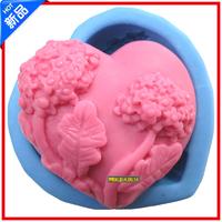 1pcs OD830 heart shaped silicone soap mold used for handmade soap  DIY soap mold free shipping