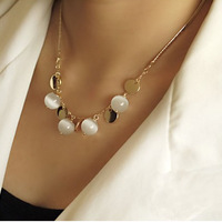 Fashion fine beaded sequined necklace for women
