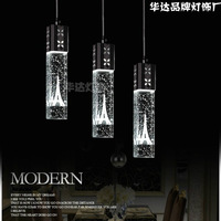 Modern led crystal fashion brief bubble pendant light kitchen lamp bedroom lamp living room lamps bar lighting