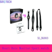 Free shpping Best quality Waterproof Heart Rate Monitor Wireless Chest Strap Sport Watch  XLJK003 with CE certificate