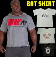 2014 new Summer golds fitness men gasp Print bodybuilding gorilla wear shirt Brand sports vest Basketball Running Gym Plus Size