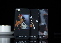 2014 new Luxury Matt Cover Ultra Thin With deer dog animal Cartoon Case Cover Skin For iphone4/4s 5 5g 5th 5s