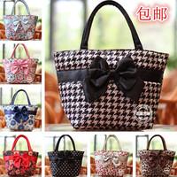 women leather handbags new sale zipper bolsas 2014 fashion trend silk fabric butterfly boss bangkok bag women's handbag shoulder