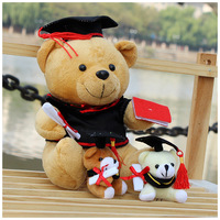 Top quality online sales charming DR, bear Graduation bear plush toy pendant toy doll toy gift Glass surface adsorption toys