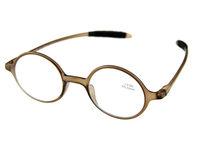 Round Retro Reading Glasses Bronw TR-90 Frame +1.0 +1.5 +2.0 +2.5 +3.0 +3.5