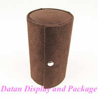 Wholesale 2 High Quality Dark Brown Velvet Bracelet Earring Ring Necklace Box Jewellery Collection Box