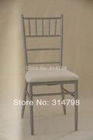 Silver chiavari chair, metal frame with sponge cushion, cheap wholesale wedding chair