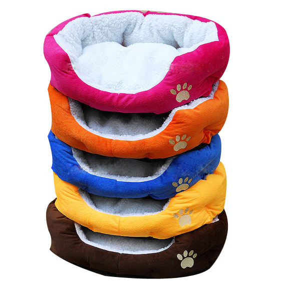 Cute Comfortable Soft Cotton Footprints Design Style Pet Nest Dog Bed Cat Bed(China (Mainland))