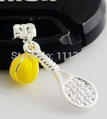 C756-2  Lovely Tennis racket  Alloy Thomas Charms Pendant  Accessories for Matching necklace and bracelet 20pcs/lot (China (Mainland))