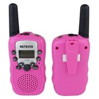 2PCS New Pink Walkie Talkie Retevis T-388 UHF 0.5W 22CH For Kid Children LCD Display Flashlight VOX Two-Way Radio A7027E Eshow