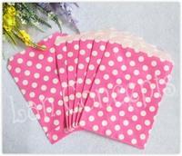 Free shipping Glassine Paper Polka Dot Favors Foods Bag - 300pcs/lot CP0014C