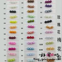 Simulatedpearl abs beads diy handmade beaded pachira red DIY material