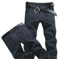 Cotton and.linen men bound feet pants / gray slacks. / Linen Spring and Autumn Korean Slim tide big yards*-