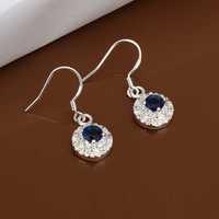 Free Shipping Wholesale 925 Sterling Silver Earring,925 Silver Fashion Jewelry,Austria Crystal Earrings SMTE477