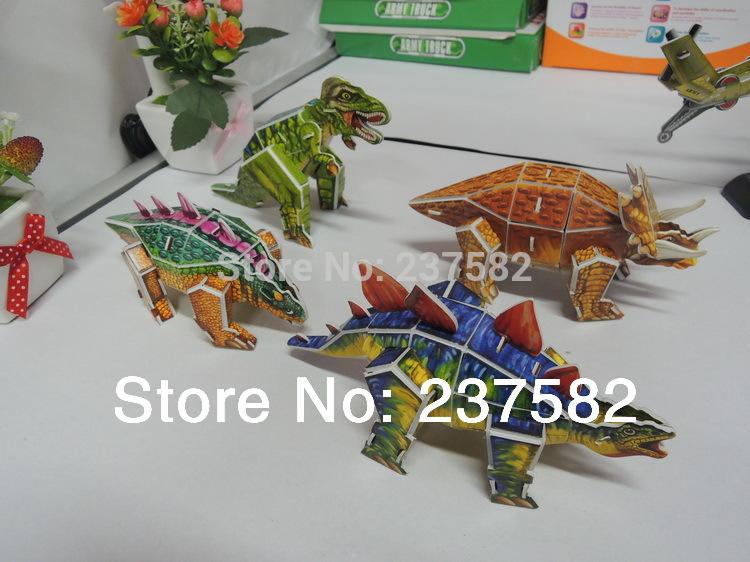 4pcs/lot Bildung spielzeug 3d puzzle schaum diy 3d dinosaurier spiele kartonmodelle 4 Arten dinosaurier puzzle für die Kinder