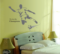 100*120cm Football Boy Removable Wall Stickers For Children Kids Room Decoration Wallpaper 3D Bedroom Decor Shelf Wall Decals