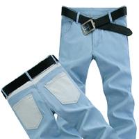 04 Spring Summer style Korean Slim / zipper men's jeans / fashion s casual cotton pants feet