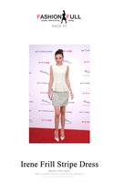 High quality 2014 women's Chiffon Knee-length O-neck off shoulder patchwork and striped A-line tank summer dress,winter dress