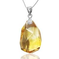 Jewelry three-dimensional pendant natural topaz fashion Women strengthen