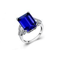 Natural tanzanite ring pure silver platinum  women's ring gem ring certificate