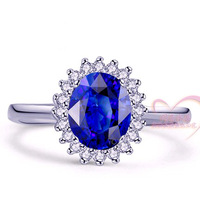 1.5 natural tanzanite ring blue ring luxury queen certificate