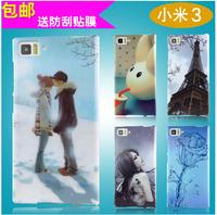 xiaomi 3 M3 Phone Case Transparent Edge Painted phone case