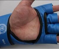 Blue  Mitten Mitts Glove Girls Women Fight/Muay/Boxing/Training Free Shipping