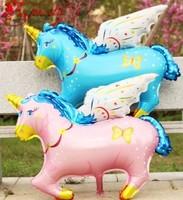 Free Shipping Unicorn Foil Balloon 100CMX88CM Super Cartoon Toys Balloon Wholesale