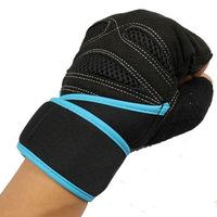 Sports Fitness Men's sports half-finger fitness glove wrist brace New Size L
