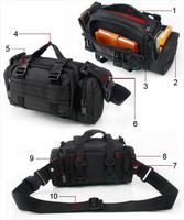 Outdoor multifunctional magic waist pack 3p tactical waist pack hiking ride waist pack chest pack shoulder bag