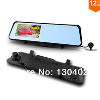 """Newest Car Camera 6000B Android 4.0 system Car Rearview Mirror 1080P 30fps Touch screen 4.3"""" LCD with G-sensor Night Vision GPS"""