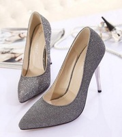 LJ09332 2014 new Korean fashion super star same style pointed heel female shoes all match brief high heels women pumps
