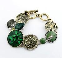 Han edition fashion TuHua showily turquoise bracelets#11040726