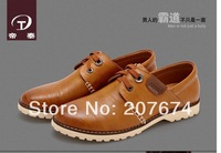 2014 free shipping hot sale  High Quality Shoe New Fashion Casual Leather driving shoes,everyday, business men's shoes