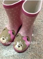 free shipping 2014Baby bear rain boots  rubber boots for children, cartoon pattern, waterproof, antislip/Children's boots