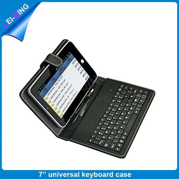 7''inch built-in keyboard and USB 2.0 MIRCO USB MINI USB design tablet keyboard case10 pcs WIth A Healthy Bracelet(China (Mainland))