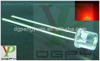Alibaba Manufacturer 1.7-2.2V Flat top red 5mm round led 625-630nm(CE&Rosh)
