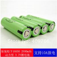 10pcs/lot Original NCR18650PF 18650 3.6V 2900mAh Rechargeable Battery Li-ion flight battery 10A Discahrge Free Shipping