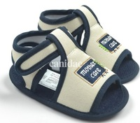 Free shipping Navy baby boy Sandals soft bottom non-slip first walker 5792