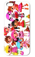 2014 New coming!! 1pcs lalaloopsy hard back white case cover for iphone  5 5g 5th  +free shipping