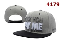 Free shipping 2014 New Style Sneaktip FUCK YOU PAY ME Snapback Gray/Black Hats cheap fashion adjustable caps 4179