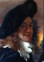 100% handmade Canvas Oil Painting Reproduction,the-only-supposed-portrait-of-jan-vermeer by Johannes Vermeer,Free FAST Shipping